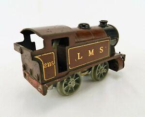 HORNBY SERIES MECCANO TINPLATE CLOCKWORK TRAIN O GAUGE L.M.S MAROON & GOLD SPAR