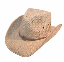 153a4b488da2e1 Mens / Womens Straw Cowboy Hat With Brown Leather Band Sun Hat