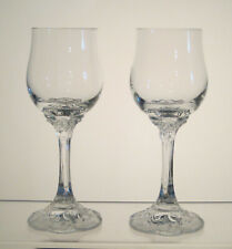 "MONBIJOU CLEAR ROSENTHAL Crystal Sherry Glasses Set/2 6"" Signed Classic Rose"