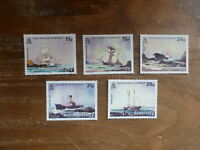 ALDERNEY 1986 SHIPWRECKS SET 5 MINT STAMPS