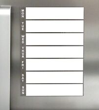 MAGNETIC FRIDGE PLANNER WHITEBOARD DRY WIPE A4 Meal Planner Notes Shopping List