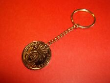 DENMARK 1 KRONE COIN KEY RING / CHAIN - 1926 - 92 YEARS OLD
