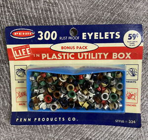 Vintage Penn 300 Piece Rust Proof Grommets & Eyelets NEW in package