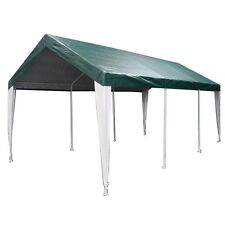 King Canopy 10' x 20' Fitted Cover w/ Legs Skirts 10' x 20' / Green/White legs
