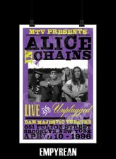 Alice In Chains UNPLUGGED Live Brooklyn Concert Tribute Poster Concept Art Print