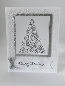 Stampin' Up Card Kit - Christmas, Snow Swirled, Tree, Season's Greetings