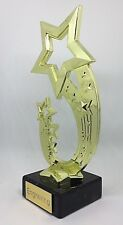 Star Trophy + FREE LASER  Engraving + FREE P&P