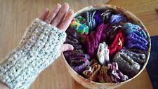 Fingerless Gloves Hand Warmers Homemade Crochet For Texting Typing Arthritis