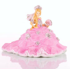 Les Dames Anglaises Co Gypsy FANTASY robe rose blonde DOLL FIGURE NEW & BOXED