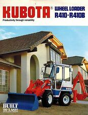 KUBOTA  R410  R410B  WHEEL LOADER SALES BROCHURE