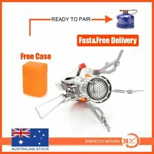 Outdoor Picnic Gas Burner Portable Backpacking Camping Hiking Mini Stove  Silver 43f4f01218ad