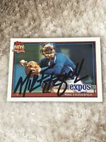 Montreal Expos Mike Fitzgerald Signed 1991 Topps Autograph Card #317 Auto