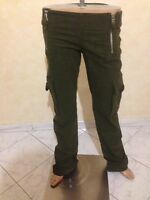 Pantalone BLUMARINE Taglia 40 DONNA PANTS WOMAN jeans donna verde cotone P 1574