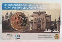 Coincard 2,5 Euros Commémorative Belgique 2020 - Jeux Olympiques Anvers COLOR