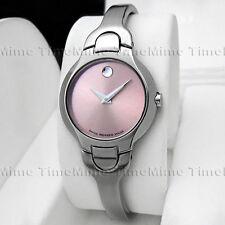 Women Movado KARA Pink Museum Dial Stainless Steel Swiss Watch 0605284