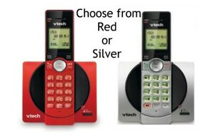 VTech CS6919 Cordless Phone System - choose red or silver  (1 handset)