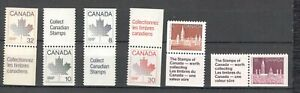 Parliament  + Maples Leafs, 6 stamps + Labels........................B1-AV12-006