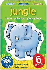 Orchard Toys JUNGLE Kids/Children's Chunky 2 Piece Animal First Puzzles Set BN