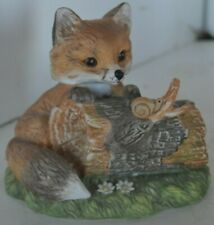 Porcelain Masterpiece Homco 1980 Fox Figure