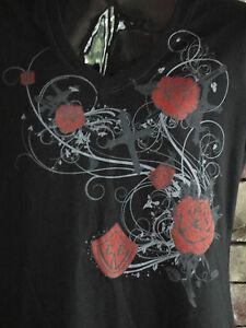 Bourget's Bike Works Ladies Cross & Rose Short Sleeve in Black & White