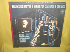 Brahms Quintet In B Minor For Clarinet and Strings Peyer Melos 1965 Angel EX LP