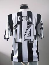David Ginola #14 Newcastle United Hogar Camiseta De Fútbol Jersey 1995-1997 (XL)