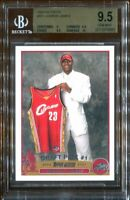 2003-04 Topps LEBRON JAMES #221 RC Rookie BGS 9.5 GEM MINT w/ 10 Surface!
