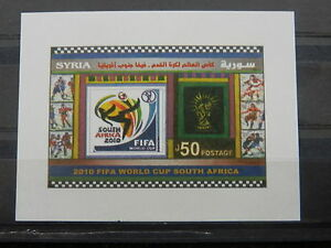 Syria SS MNH 2010 South Africa Soccer world cup