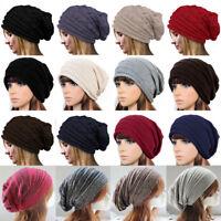 Mens Women Slouch Beanie Hat Knitted Woolly Oversized Hat Cap Skateboard Beenie