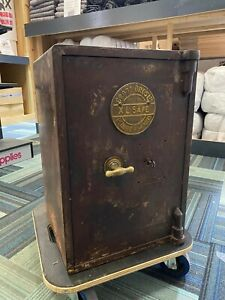 Vintage / Antique Cross Bros. Ltd Heavy Cast  Iron XL Safe - CARDIFF IRONMONGERS