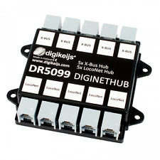 DIGIKEIJS DR5099 DigiNetHub - 5 Way LocoNet & 5 Way XpressNet X-Bus Splitter Hub
