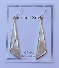 Gorgeous Handcrafted 925 Sterling Silver W/ Mother Of Pearl Earrings