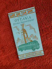 Ottawa Canada Guide and Tour Booklet Brochure 1953 Vintage Edition