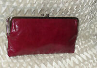 Hobo International Lauren Leather Clutch ~ RUBY  NWOT