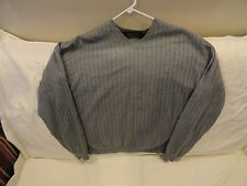 Brooks Brothers Men's V-neck Wool Blend Sweater-ls,gray.  Large   EUC++