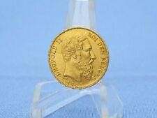 Belgien 20 Francs 1882 Leopold II.  * 6,45 Gramm - 900 Gold * Vz+
