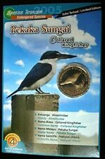 "2005 Malaysia 25 sen ""Endangered Species - Collared Kingfisher"" UNC Coin Card#UP"