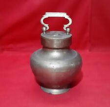 Antique Handmade Brass Copper Bowl Jar Vase Old Vessel Vintage India Home Decor