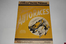 Midget Auto Races Program, Fresno Airport Speedway, July 6 1947, Original