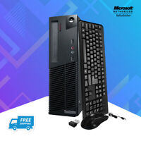 Lenovo M82 SFF Desktop Computer Intel i5 16GB RAM 2TB HDD 480GB SSD Windows WiFi