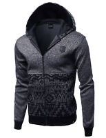 FashionOutfit Men's Casual Fine Quality Plush Fleece Lined Zip Up Hoodie Jacket