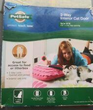 Pet Safe 2 way cat door up 15 pounds new open box animal pet kitten
