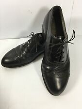 Hanover Men's Black Leather Cap Toe Oxford Dress Shoes Size 9.5 EEE