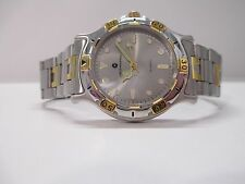 A93 NEW MEN'S JB CHAMPION Gold Silver Dress Steel Band WATCH VINTAGE St. Steel