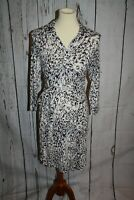 Cabi Button Up Shirt Dress Women's Size Small S White Black Brown Belted Soft