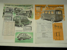 Catalogue Glac Auto 2 CV CITROEN  & Type H TUB  prospectus brochure prospeckt