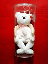 "TY BEANIE BABY ""HALO"" / ORIGINAL W/CLEAR PLASTIC DISPLAY/ ERRORS / NEW!!"
