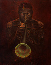 Wynton Marsalis Portrait Music Fantasy Surrealism Oil Painting Mag Raven 24x30""
