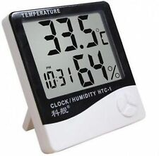 HYGROMETER | Digital Temperature & Humidity Meter + Clock |HTC-1 HD
