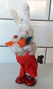 Vintage Windup Carrot Bunny, Rabbit, Japan, Working, Mechanical, Clockwork, MM